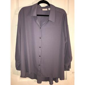 High-low Women's Big Shirt in Light Purple
